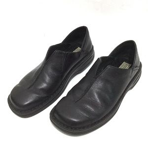 Josef Seibel Black Leather Loafers